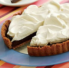Chocolate Truffle Tart with Whipped Vanilla Mascarpone Topping