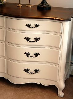 How to repaint a dresser.
