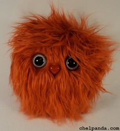 "10"" Coodle - Orange Furry Monster Plush. $25.00, via Etsy."