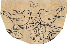 French transfer - birds and cherry transfers by Wyld_Hare, via Flickr