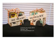 Stampin Up Tiny Treat boxes from the Motley Monsters designer paper