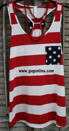 Home of the Brave Red and White Striped Bow Tank. so cute for Memorial or Fourth of July