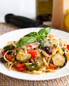 summer veggi, pasta