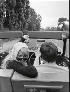 Catherine Deneuve and David Bailey.