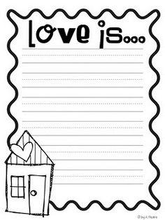 Love is....Writing Prompt Freebie