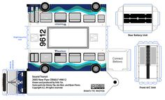 Sound Transit New Flyer paper model bus by R. Flores. DIY paper craft