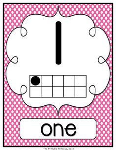 Polka dot or chevron number posters. 0-20 {include small posters and number worksheets, perfect for the first days of school}. Includes ten frames and number words. Large, bold font that can easily be seen across the room!