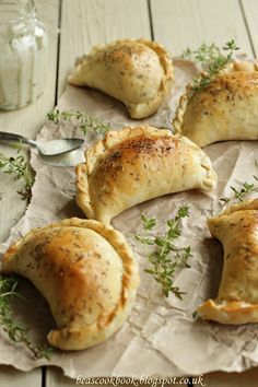 Mini Calzones with Chicken, Peppers and Mushrooms