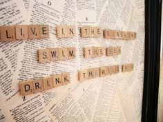 Magnetic Scrabble Board .. MUST make this!!!!
