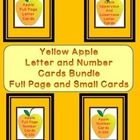 Here is the yellow apple letter and number cards in a bundle.   The Bundle includes the Yellow Apple Full Page Alphabet Letter Cards Uppercase and ...