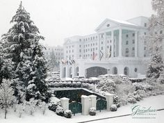 The Greenbrier looks so beautiful in the snow!  http://www.greenbrier.com/winter-escape