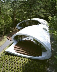 Shell House, Nagano, Japan by Kotaro Ide © Nacasa & Partners Inc  #architecture #japan #forest