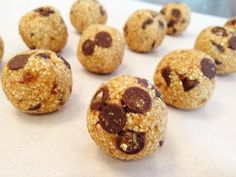Guilt-free cookie dough bites! (no eggs, no dairy, no wheat, lots of fiber)