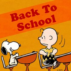 Back to school with Charlie Brown and Snoopy!