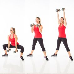 Get an upper and lower-body blast with the plié curl to press!