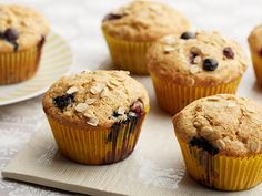 Blueberry Whole Wheat Muffins, plus 4 more healthy muffins