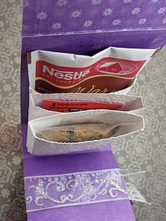 Paper box with 3 holders.
