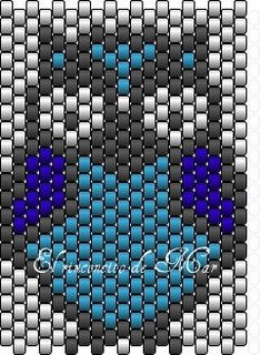 Delica Owl Outline| Flickr - Photo Sharing! beaded loom patterns, free loom beading patterns, free seed bead loom patterns, bead patterns loom, beads loom pattern, seed beads, delica bead patterns, owls, owl patterns