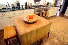 Love: Butcher block kitchen island