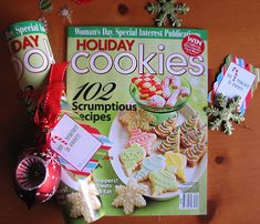 Fun & inexpensive Christmas gift idea .... a cookie magazine rolled up & tied with ribbon and a cookie cutter!