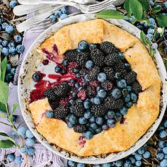 Double Berry-Almond Galette - Fresh Blueberry Recipes - Southern Living