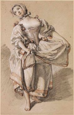"""Young Country Girl Dancing"" by François Boucher (1765-1770)"