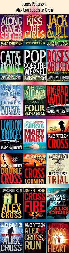Alex Cross books in order by James Patterson I may start this next.