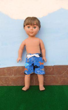 18 Inch Boy Doll Clothes Boy Doll Swim Trunks Boy by DonnaDesigned, $10.00  https://www.etsy.com/listing/184280740/18-inch-boy-doll-clothes-boy-doll-swim?ref=shop_home_active_1 #americangirl  #18inchdoll  #18inchboydoll