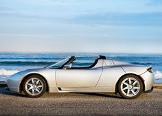tesla roadster -- wedding getaway car