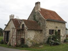 "Maybe not as nice as the (fake) one from the movie ""The Holiday"", but my own 300+ years cottage in Western France, currently being restored for the first time!"