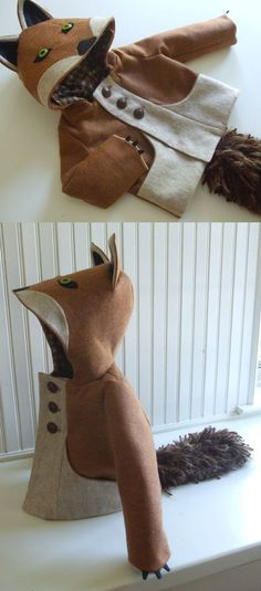 If I was super crafty (and could sew)  I would toootally make my kids animal coats! lol  Love this fox coat!