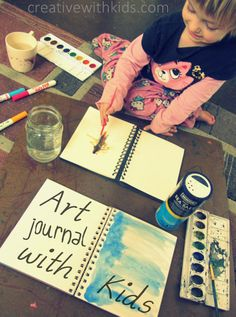 Art Journaling for Kids - weekly prompts and tips