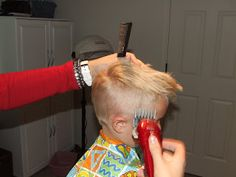 How To Cut Boys Hair The Professional way. A good guide. If you prefer a longer cut, apply the same tips she talks about on the top, all the way down and just use good scissors. Now, for tips on keeping them still...