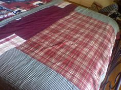 Ladies dont throw away your old fabric Shower Curtains. Most Shower curtain fabric is thicker and it makes a great heavy quilt