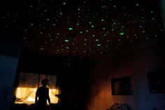 Glow in the dark stars! I used to have them all over my ceiling in my old bedroom.