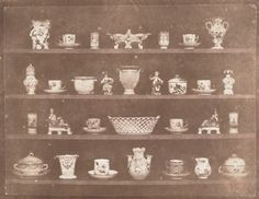 William Henry Fox Talbot, Articles of China, ca. 1843; salt print, 7 7/16 in. x 8 15/16 in. (18.89 cm x 22.7 cm); Collection SFMOMA, Agnes E. Meyer and Elise S. Haas Fund and purchase through a gift of Mimi Haas