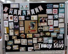 stampin up european convention 2014 inspiration display board