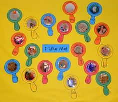 mirror, idea, bulletin board, first week activities, call kindergarten, preschool lessons, place call, preschool lesson plans, places