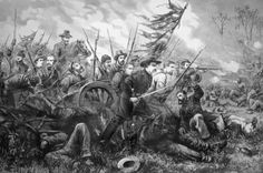 Union Charge at the Battle of Gettysburg: