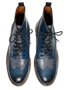 Want these boots...Mens Summer Fashion 2012 - 100 Days of Summer Style - Esquire Summer Style, Leather Boots, Cobalt Blue, Blue Shoes, Boots Men