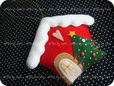 Enfeite casinha de Natal - Molde Pri Cunha | Flickr – Compartilhamento de fotos!