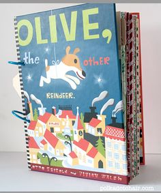 Christmas Photo Album and Scrapbook made from a repurposed book.