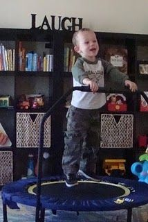 Jumping & Swinging {Sensory Diet} Great sensory input #sensory #autism #specialneeds #fragileX