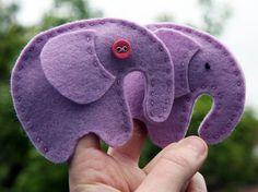 Free elephant finger puppet pattern!!!