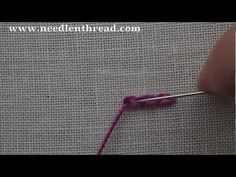I ❤ embroidery . . . Chain Stitch Video Tutorial~ The chain stitch is a versatile hand embroidery stitch that can be used to outline and to fill spaces. It is probably one of the most common embroidery stitches, and adapted to all different techniques, even lace making. The chain stitch works very easily around curves, in lines, or in large spaces for filling.