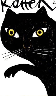 Poster by Dick Elffers - Katten, 1956