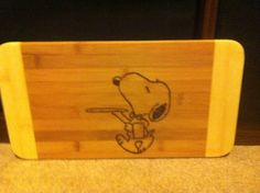 Snoopy serving cutting board  on Etsy, $22.00 CAD