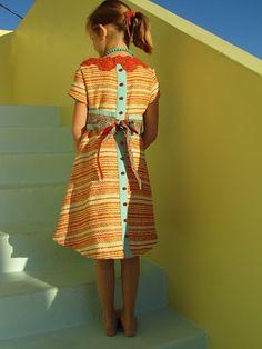 Girls Vintage Dress tutorial by no big dill