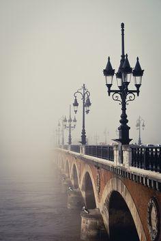 Fog Bridge, Bordeaux, France  photo via alida