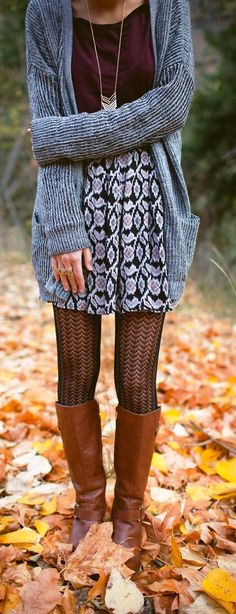 Lovely Twenties Girl fall Style with long cardi